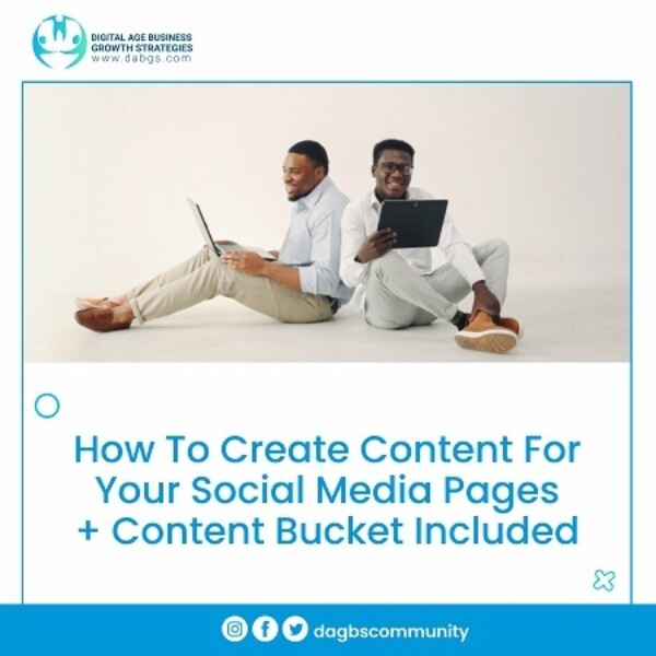 5. How To Create Content For Your Social Media Pages + Content Bucket Included